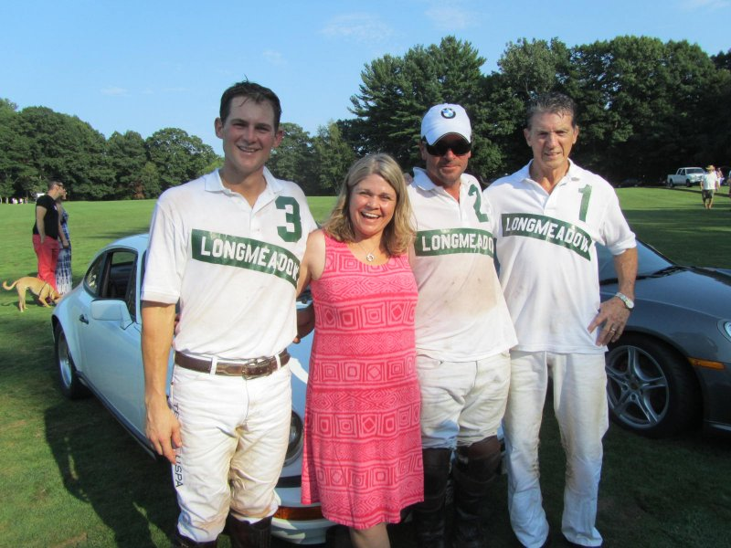 Madame President with the winning polo team